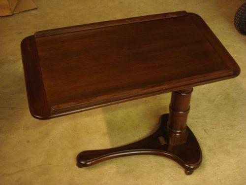 Viktorianischer Mahagoni Beistelltisch Lesetisch Nachttisch antik ca 1850