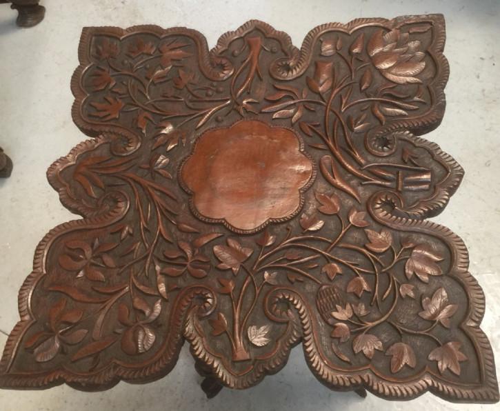 Edwardianischer Hartholz Beistelltisch original antik ca 1890