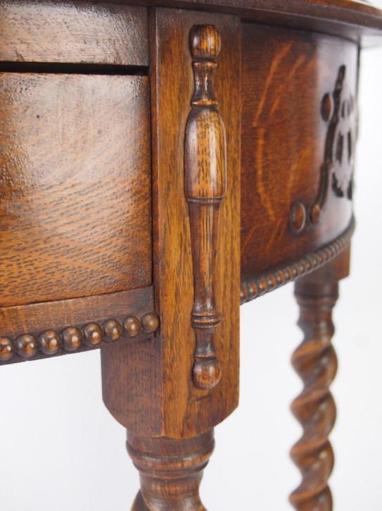 Edwardianischer Eichen Beistelltisch Konsolentisch antik ca 1890