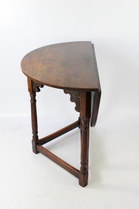 Edwardianischer Eichen Beistelltisch original antik ca 1910