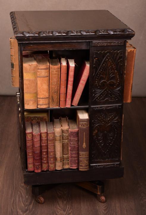 Edwardianisches englisches Revolving Bookcase Eiche antik ca 1890