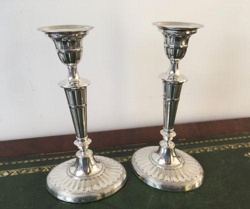 Edwardianische antike Silber Kerzenständer englisch ca 1902