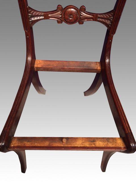 6 Regency Antike Englische Mahagoni Esszimmerstühle ca. 1815