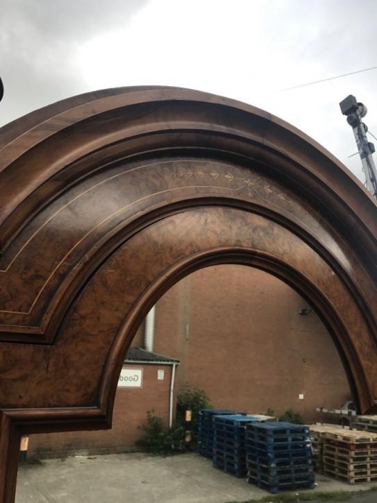 Antiker viktorianischer Nussbaum Kleiderschrank Garderobe englisch 1850