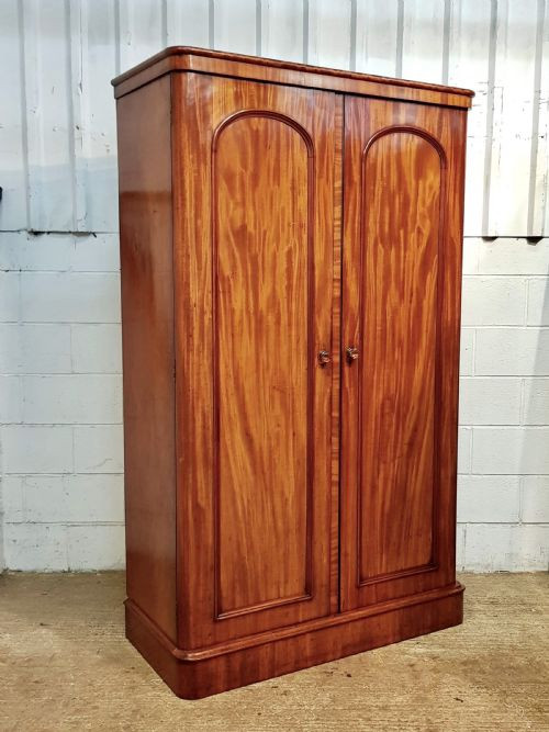 Antiker viktorianischer Mahagoni Kleiderschrank englisch ca 1880