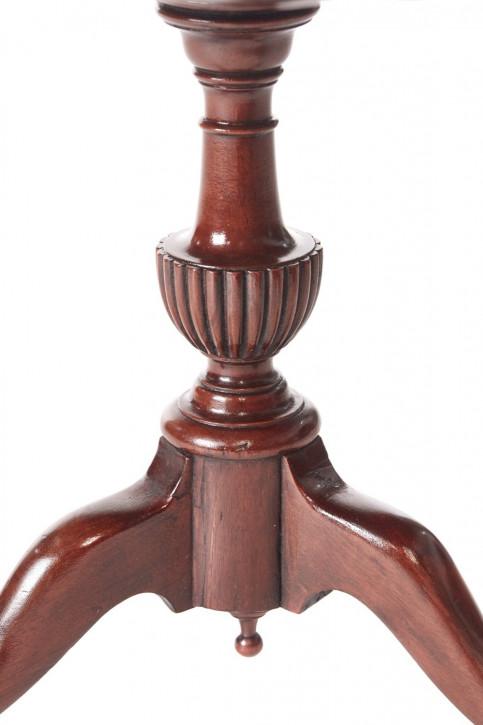 Antiker englischer Mahagoni Beistelltisch Lampentisch ca 1920