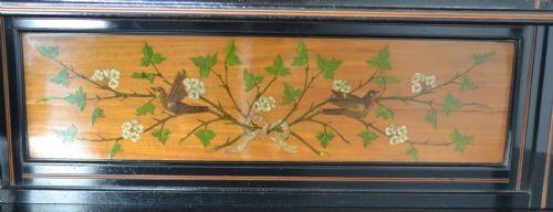 Antikes Englisches bemaltes Satinholz Sideboard ca. 1890