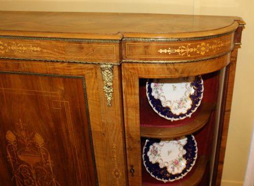 Antikes viktorianisches Nussbaum Sideboard englisch ca 1860