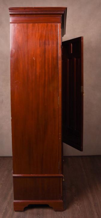 Edwardianischer antiker Mahagoni Kleiderschrank englisch ca 1890