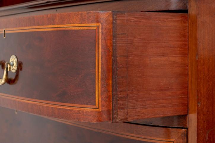 Antiker edwardianischer Mahagoni Kleiderschrank englisch ca 1890