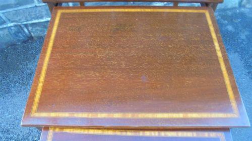 Antike edwardianische Mahagoni Beistelltische original englisch ca 1890