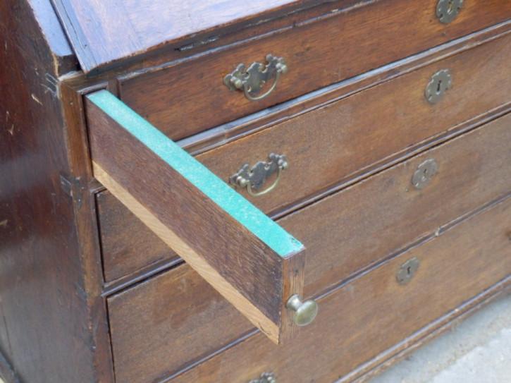 Georgianischer Eichen Aufsatzsekretär Bureau Bookcase antik englisch 18. Jh