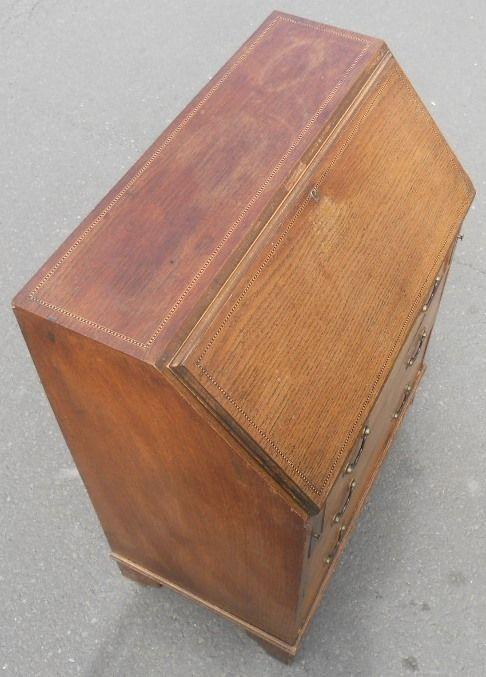 Edwardianischer antiker Sekretär Eiche englisch ca 1900