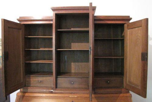 Antiker Eichen Aufsatzsekretär Bureau Bookcase englisch 19. Jh