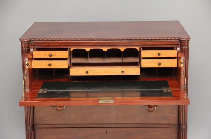 Antiker Regency Mahagoni Sekretär englisch ca 1800