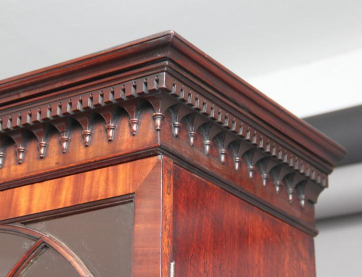 Antiker englischer Mahagoni Aufsatzsekretär Bureau Bookcase ca 1790