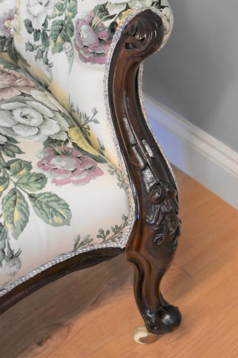 Viktorianische Mahagoni Chaiselongue antik englisch ca 1870