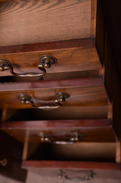 Antiker original britischer Mahagoni Schreibtisch 19. Jh