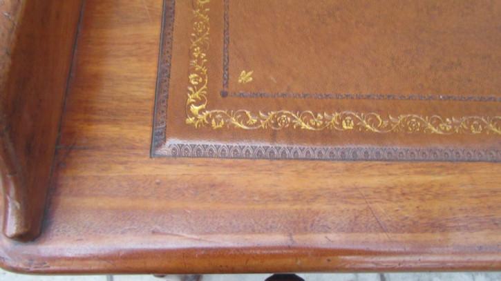 Antiker viktorianischer Mahagoni Schreibtisch britisch ca 1850