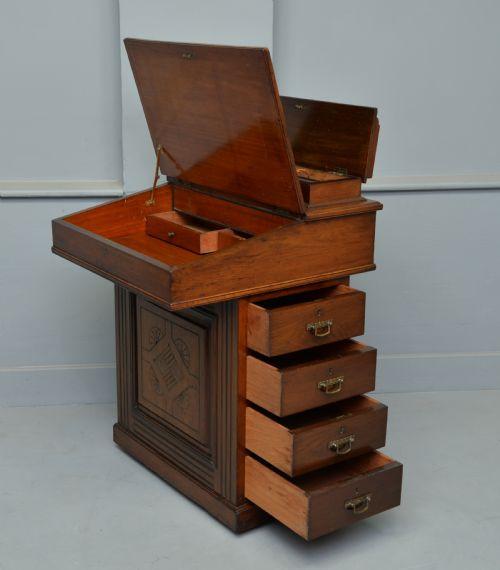 Viktorianischer Davenport Schreibtisch Eiche antik ca 1890