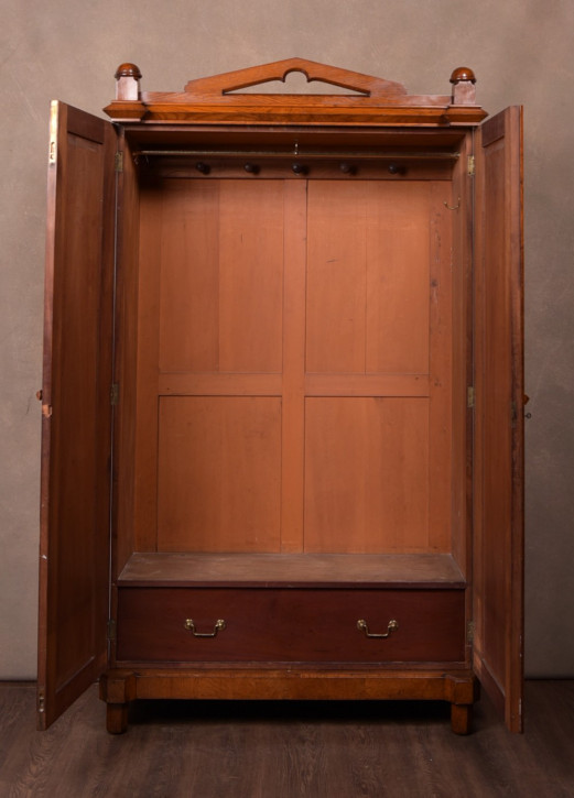 Antiker viktorianischer Arts & Crafts Eichen Kleiderschrank ca 1850