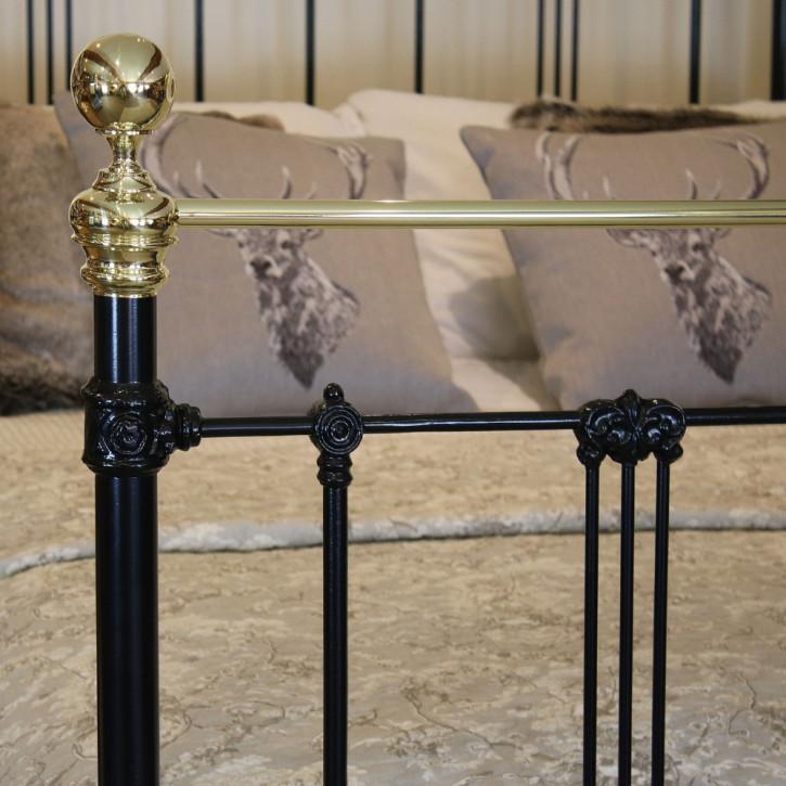 Antikes viktorianisches Bett Eisen Messing Queensize ca 1890