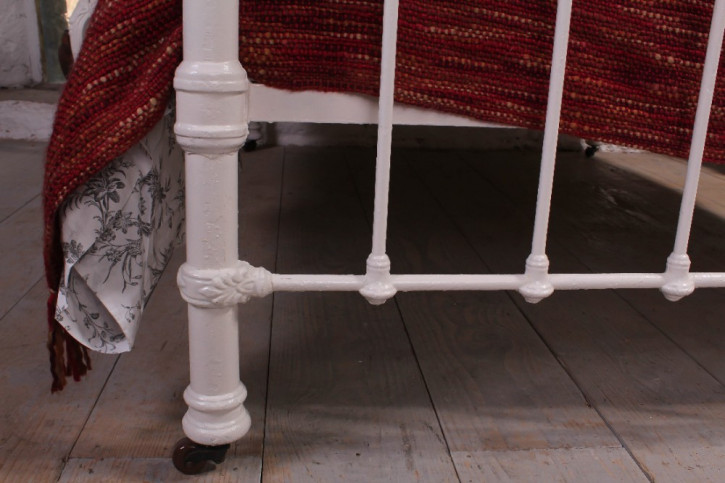 Edwardianisches antikes Messing Doppelbett englisch ca 1890