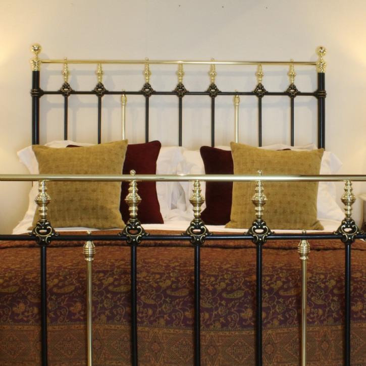 Antikes viktorianisches Messing Gusseisen Bett britisch ca 1890
