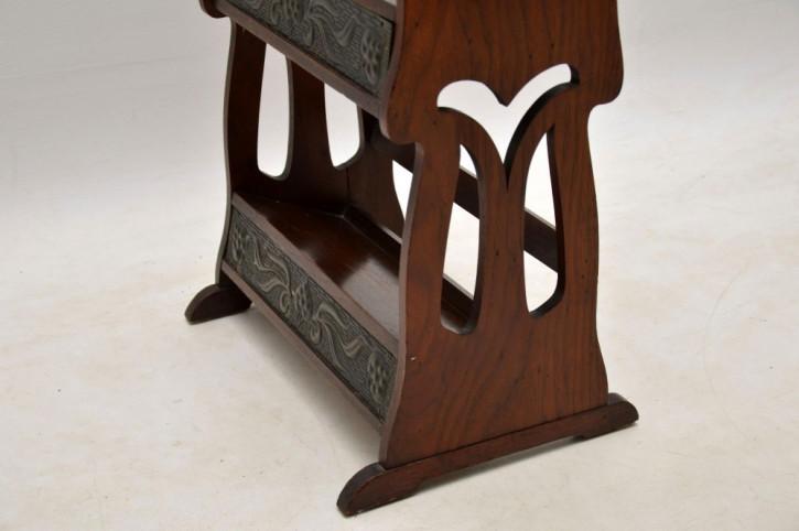 Antikes Art Nouveau Bücherregal Nussbaum englisch ca 1890