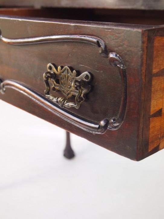 Viktorianischer antiker Mahagoni Schreibtisch britisch ca 1850