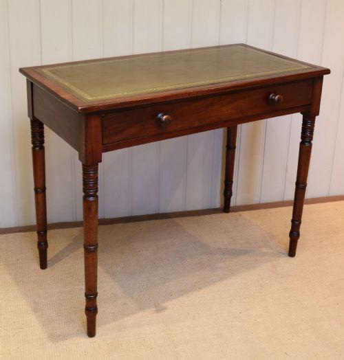 Antiker britischer Mahagoni Schreibtisch ca 1880