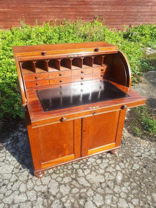 Antiker Regency Cylinder Desk Sekretär englisch ca 1810