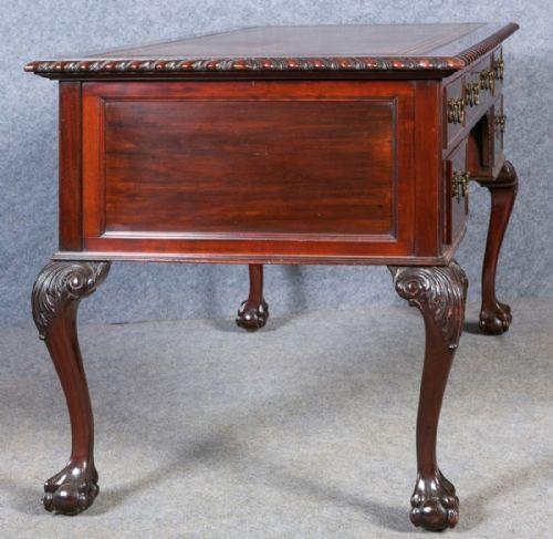 Edwardianischer antiker Mahagoni Schreibtisch englisch ca 1900