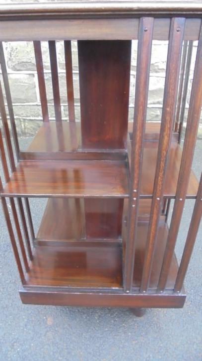 Antikes Mahagoni Drehbücherregal Revolving Bookcase englisch ca 1900