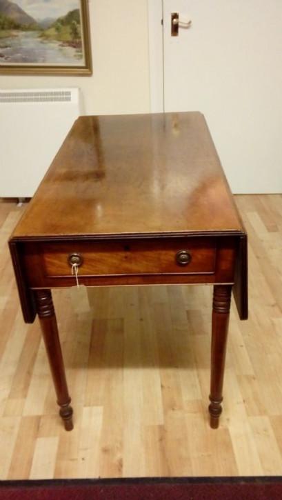 Georgianischer Regency Mahagoni Pembroke Tisch antik ca 1830