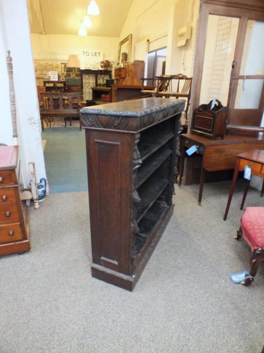 Antikes englisches Eichen Bücherregal ca 1900