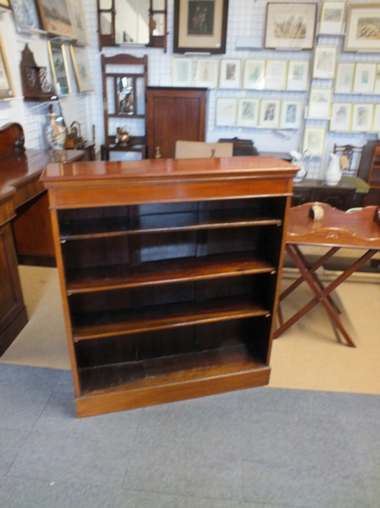 Edwardianisches Bücherregal Mahagoni englisch antik ca 1890