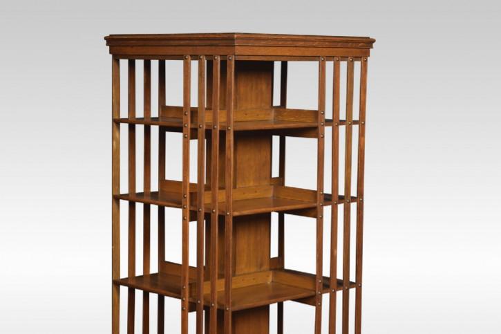 Antikes englisches Bücherregal Eichen Revolving Bookcase ca 1900
