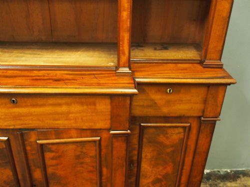 Viktorianischer antiker Mahagoni Bücherschrank englisch ca 1840