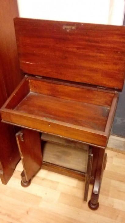 Antiker viktorianischer Davenport Schreibtisch Eiche englisch ca 1840