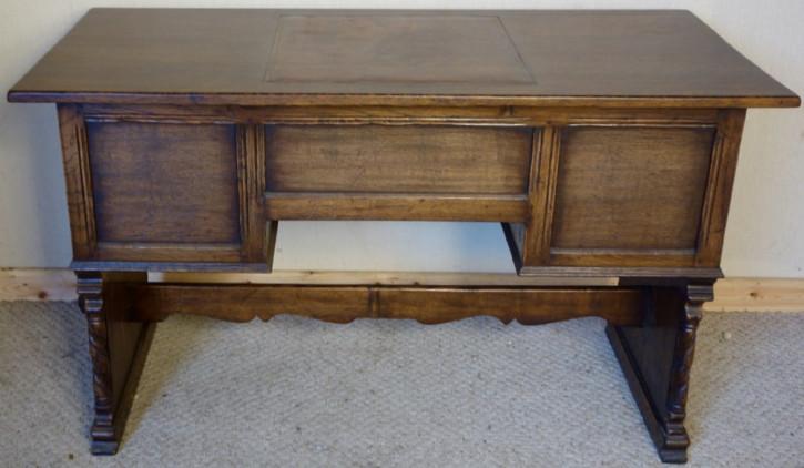 Antiker englischer Schreibtisch Eiche Ahorn ca 1930