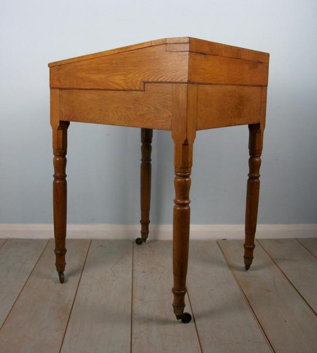 Viktorianischer Eichen Schreibtisch antik britisch ca 1850