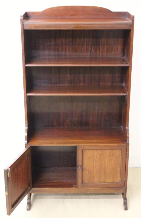 Antikes edwardianisches Mahagoni Bücherregal englisch ca 1890