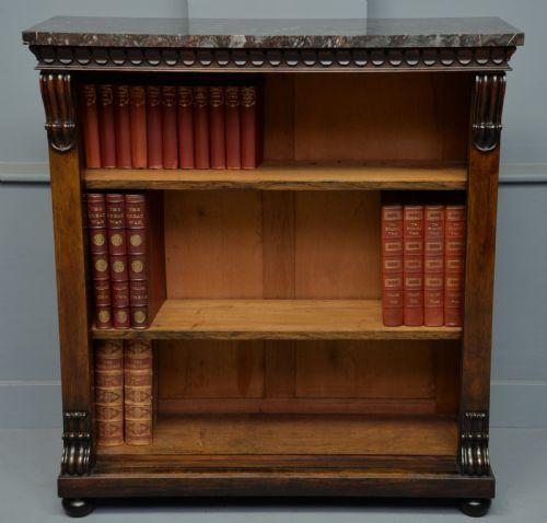 Antikes englisches Palisander Bücherregal ca 1830