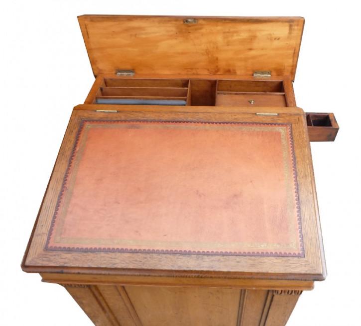 Britischer antiker Regency Davenport Schreibtisch Eiche ca 1820