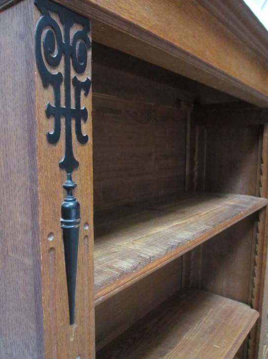 Viktorianischer antiker Bücherschrank Eiche englisch ca 1850