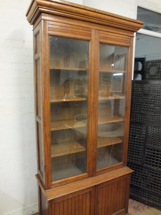 Antikes britisches Bücherregal Eiche ca 1900