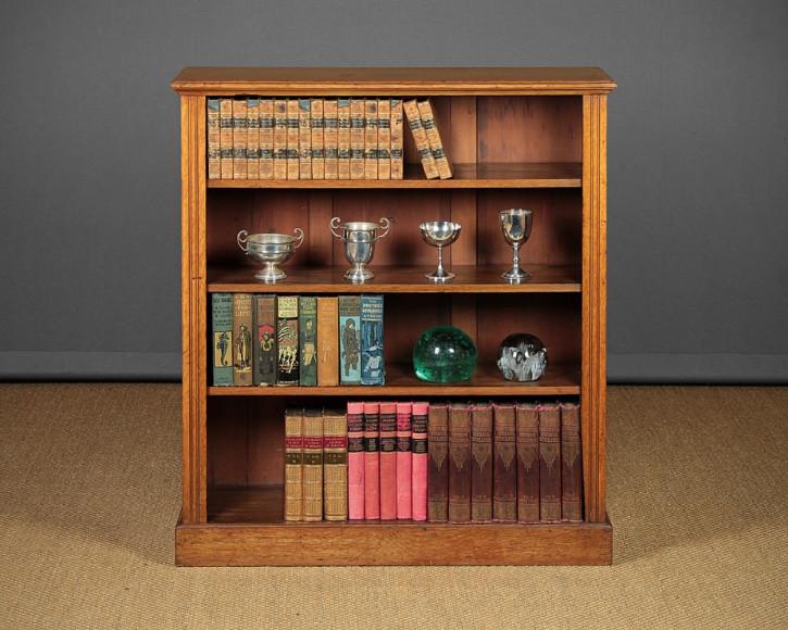 Edwardianisches antikes Eichen Bücherregal britisch ca 1910