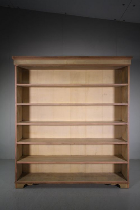 Antikes britisches Kiefern Bücherregal Weichholz 19. Jh