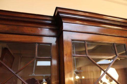 Georgianisches Mahagoni Bureau Bookcase Bücherschrank antik 18. Jh